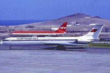 Il-62M de Aeroflot en el aeropuerto de Gran Canaria