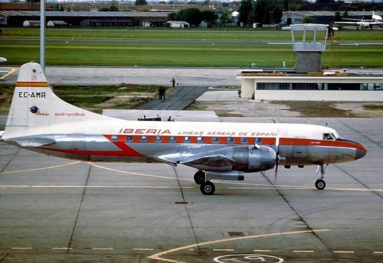El primer avión CV-440 Metropolitan de Iberia