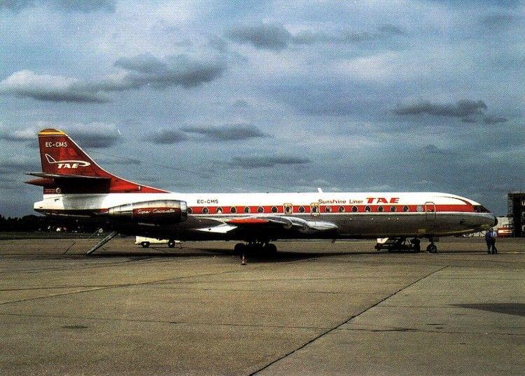 El elegante avión francés Caravelle formó parte de la historia de TAE