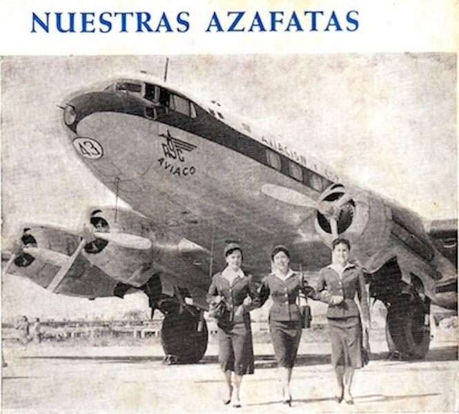Espacio publicitario de AVIACO dedicado a sus azafatas de vuelo