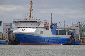 """""""Pélagos"""", uno de los buques fletados para la línea Marsella-Tánger Med"""
