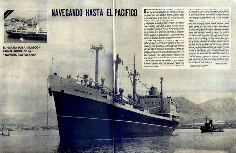 """Reportaje del viaje inaugural publicado en """"La Actualidad Española"""""""