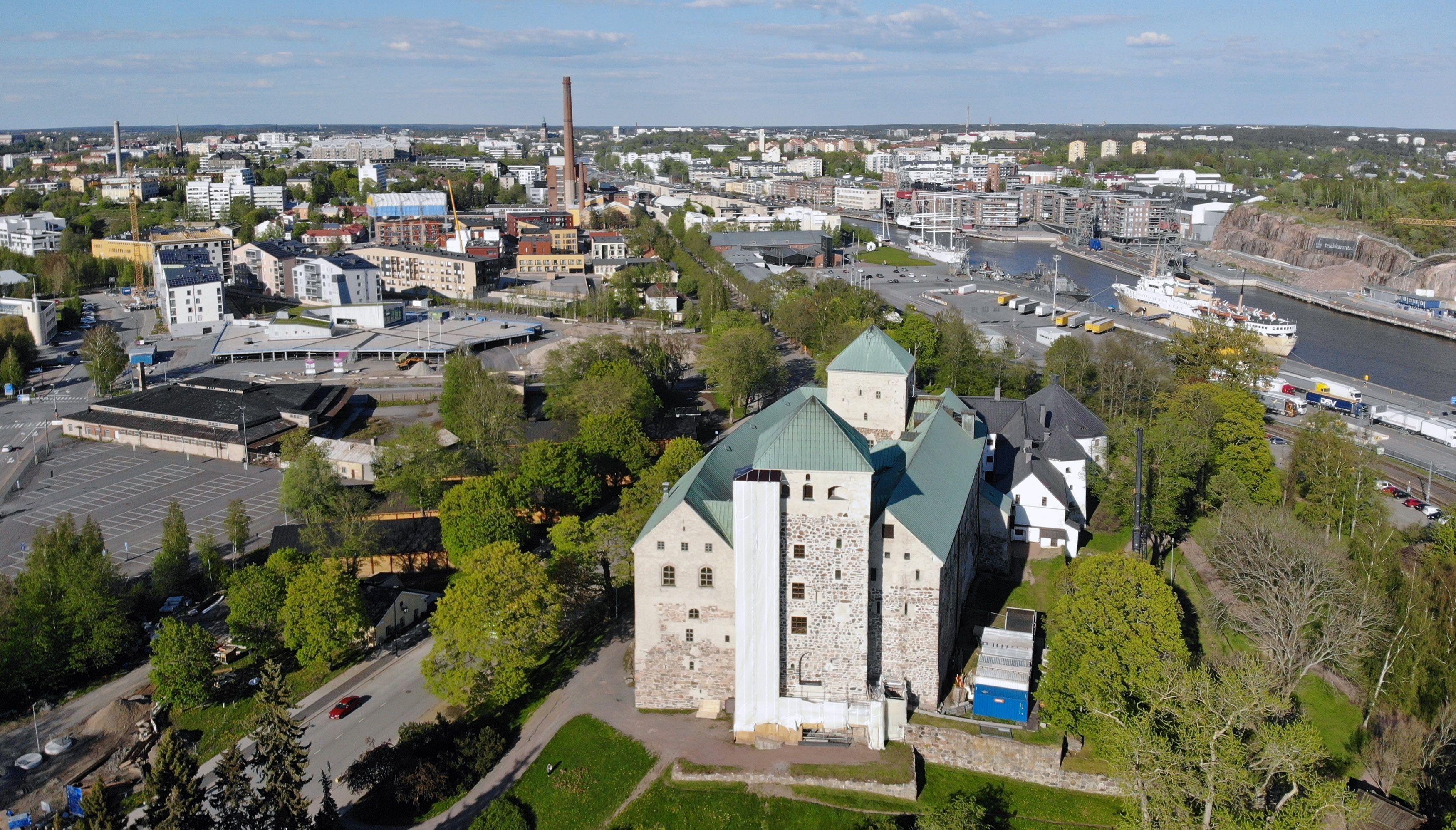 Panorámica del castillo de Turku en la actualidad