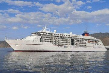 """El buque """"Europa 2"""", fondeado en Santa Cruz de Tenerife"""