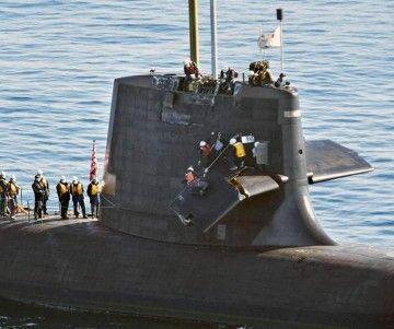 Se aprecian los daños en los planos de inmersión del submarino
