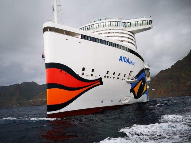 Cinco buques de Aida Cruises están fondeados en Tenerife