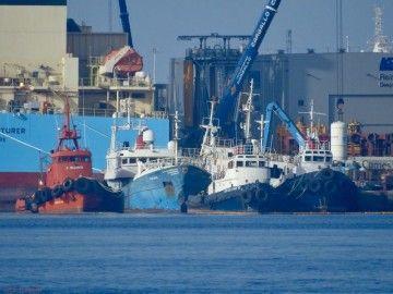 Barcos pendientes de desguace en Logiscrap Las Palmas