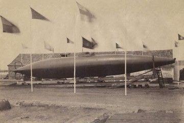 El submarino de Isaac Peral, preparado para su botadura