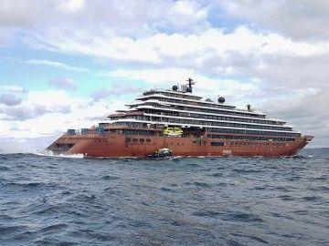 """El buque """"Evrima"""", en aguas de Santander"""