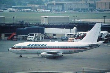Boeing B-737 de Spantax con librea mixta de Britannia Airways