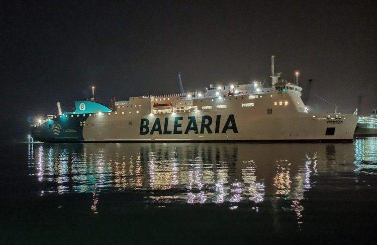 """El ferry """"Hypatia de Alejandría"""", a su llegada esta noche a Málaga"""