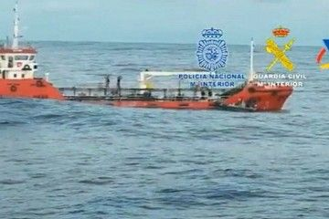 El buque, localizado para su interceptación por los GEO