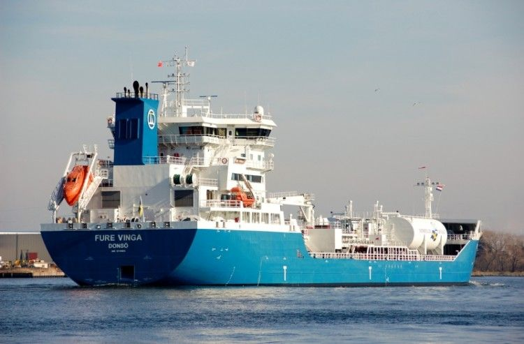 """El quimiquero sueco """"Fure Vinga"""", un hito en la historia del puerto de Cartagena"""