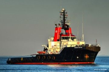 """Estampa marinera del remolcador """"Bremen Fighter"""""""