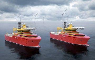 Infografía de los futuros buques CSOVs en su entorno