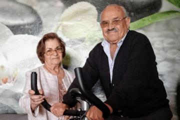 Melquíades Camacho Hernández y su esposa, Esperanza Hernández Cabrera