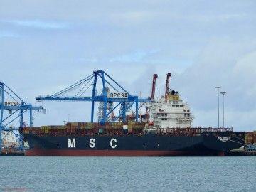 MSC tiene un peso específico notorio en el puerto de Las Palmas de Gran Canaria