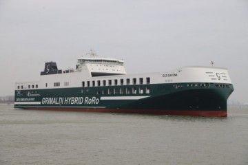 """Estampa marinera del buque """"Eco Savona"""""""