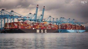 Dos buques portacontenedores operan en la terminal APM de Algeciras