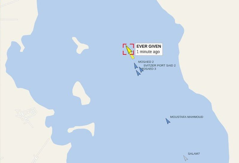 """El buque """"Ever Given"""" ya se encuentra en el Lago Amargo"""