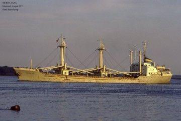 """El buque """"Sierra Jara"""", en aguas de Canadá"""