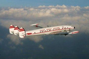 El avión L-1049G de TWA, en una imagen reflejo de su majestuosidad
