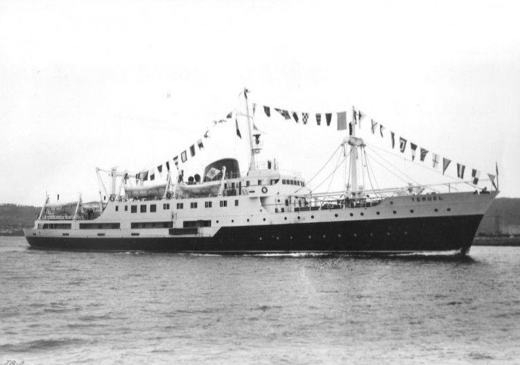 """El buque """"Teruel"""", recién entregado a la Empresa Nacional Elcano"""
