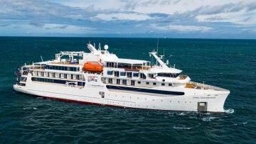 """Estampa marinera del buque """"Coral Geographer"""""""