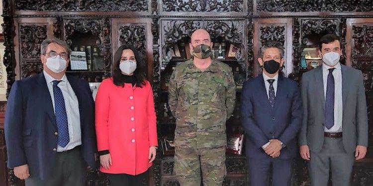 Reunión con el comandante militar de Melilla