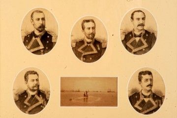 Los cinco oficiales de la dotación del submarino de Isaac Peral