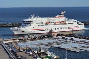 "El ferry ""Madeleine II"", a su llegada a Cap-aux-Meules"