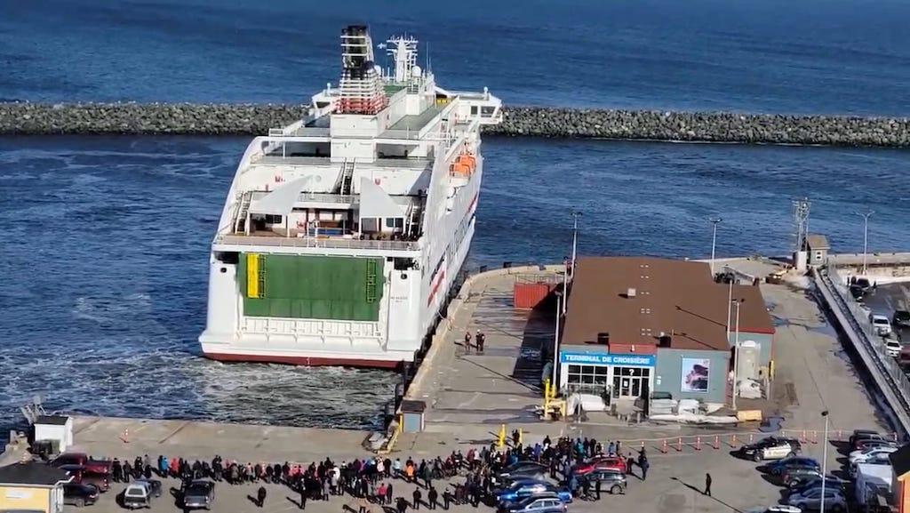 Cap-aux-Meules es uno de los tres puertos de la línea