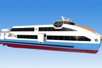 Este será el aspecto externo de los diez ferries eléctricos para Portugal