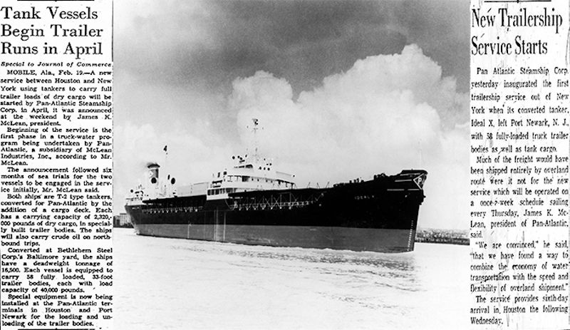 """La noticia del primer viaje del buque """"Ideal X"""" tuvo una gran trascendencia"""