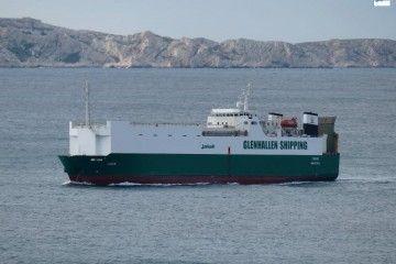 """El buque rolón """"Iván"""", en su reciente escala en Marsella"""
