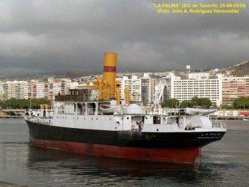 """El histórico vapor """"La Palma"""" cumple hoy 109 años de su entrega oficial"""