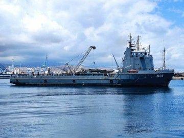 """El buque """"N 35"""", en aguas del puerto de Las Palmas de Gran Canaria"""