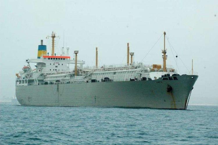 """Estampa del buque metanero """"Laietá"""""""