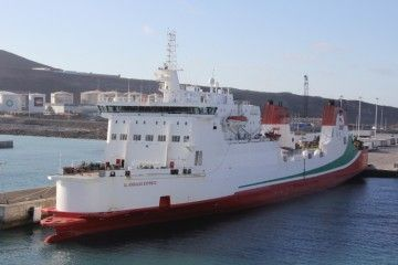 "Estampa marinera del buque ""Al Andalus Express"""