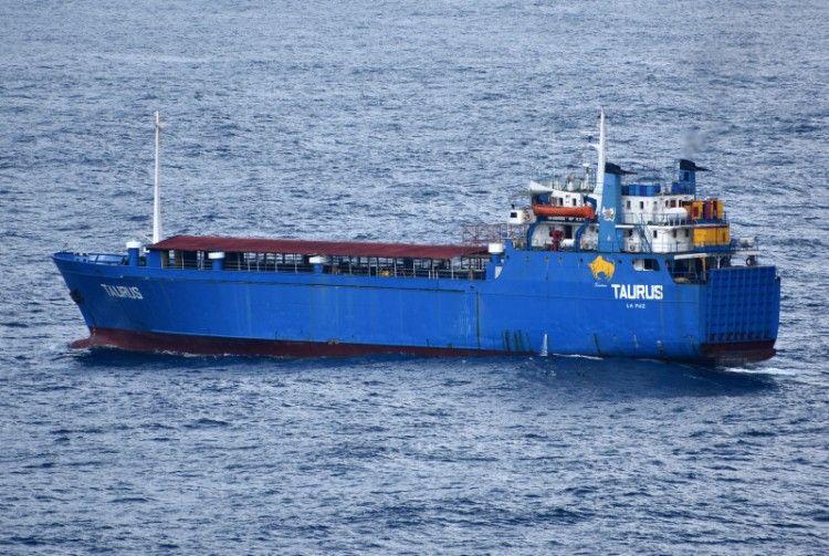 """El buque """"Taurus"""", ex """"Cala Galdana"""", ex """"Rivamahón"""", en una foto de 2020"""