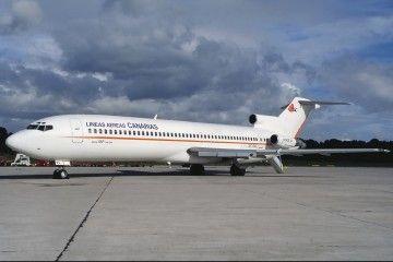 """Boeing B-727 de la """"nueva"""" Líneas Aéreas Canarias, que no llegaría a volar"""