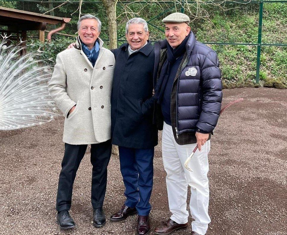 De izquierda a derecha, Emanuele Grimald, Antonio Armas y Diego Pacella