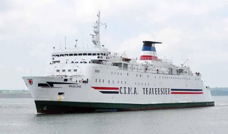 """El ferry """"Madeleine"""" es un buque construido en 1981 en Irlanda"""
