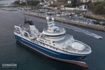 """Estampa marinera del pesquero noruego """"Magne Arvesen"""""""