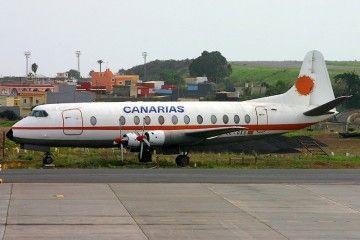 """Vickers Viscount 806 de LAC """"Isla de Tenerife"""" (EC-DXU)"""