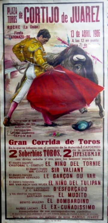 El cartel de la singular corrida de toros de 1986