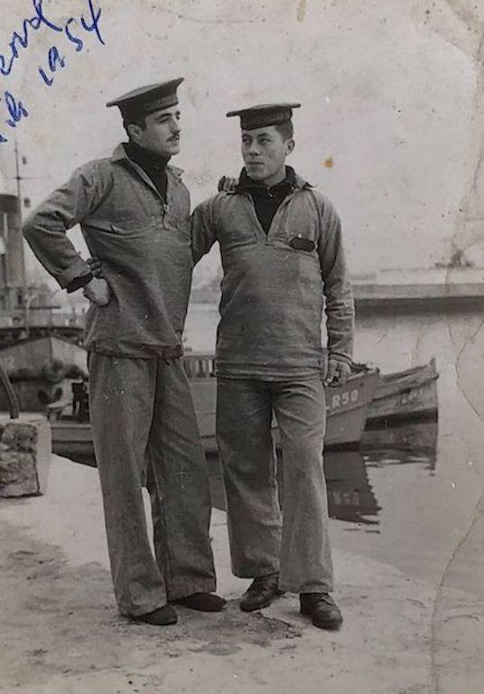 Durante el servicio militar en Ferrol