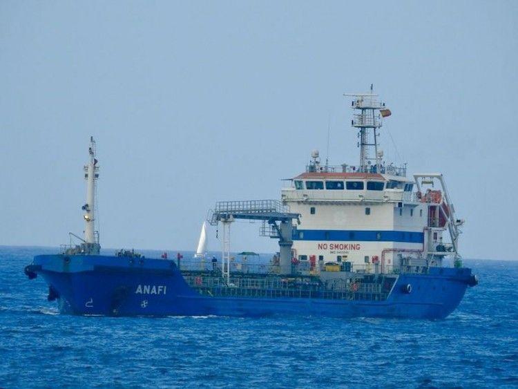 """El petrolero """"Anafi"""", fletado por CEPSA"""
