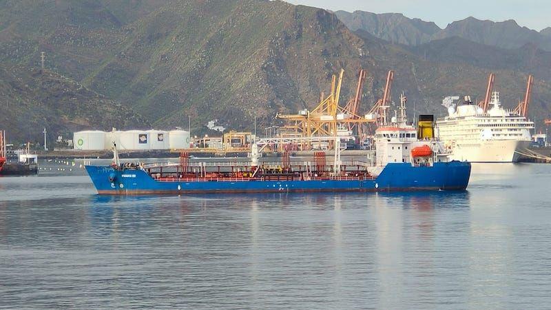 """Estampa marinera del petrolero """"Panamá 100"""""""