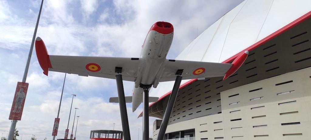 """El avión """"Saeta"""" está expuesto desde septiembre de 2019"""